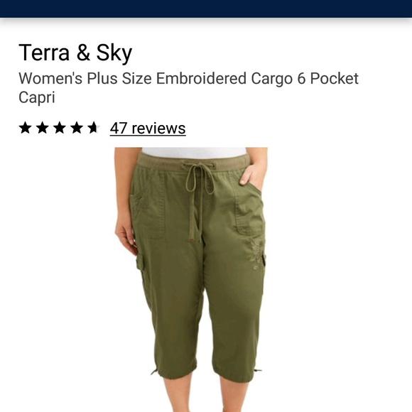 3X NWT Women/'s Terra Sky Capri Plus Comfort Waist Stretch Millennium Sz 1X